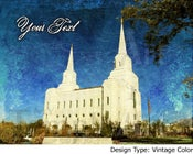 Image of Brigham City Utah LDS Mormon Temple Art Sale 001 - Personalized LDS Temple Art