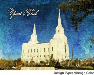 Image of Brigham City Utah LDS Mormon Temple Art Sale 001 - Personalized LDS Temple Art