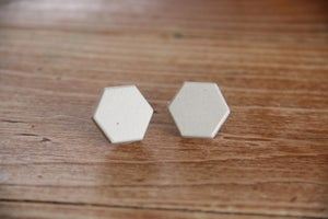 Image of Cement Hexagon Earrings