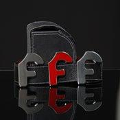 "Image of Forgiato Double Sided Leather ""F"" Belt & Buckle (Black)"