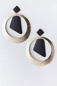 Image of Hammered Hoop Earrings