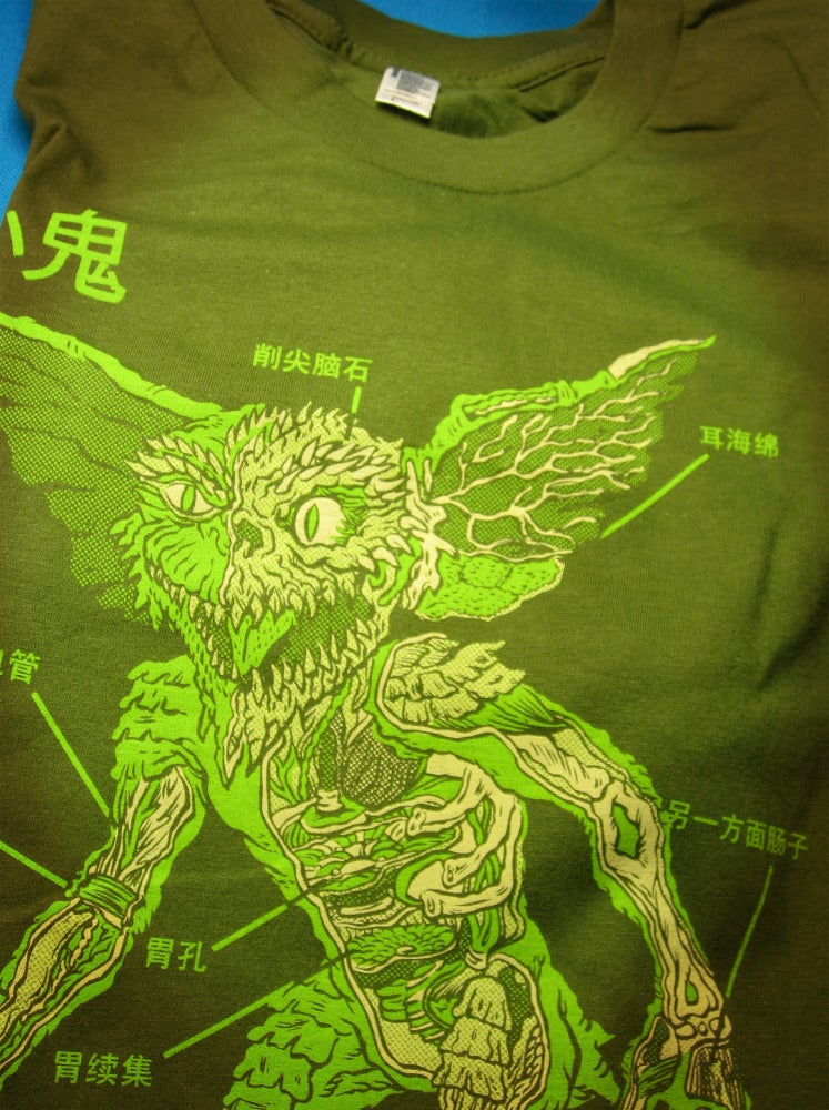 Image of ANATOMY OF THE GREMLIN T-SHIRT!