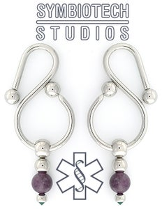 Image of Gracefall Eardrops / Stainless Stone & Gems