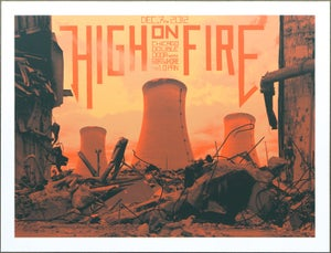Image of High On Fire Chicago 2012 poster