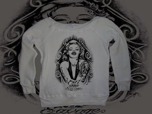 Image of Ladies - Marilyn Monroe Wide Neck Sweater