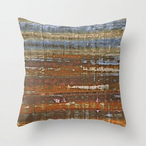 Image of Barnside. Farm Inspired Photography Throw Toss Pillow by Brandi Fitzgerald