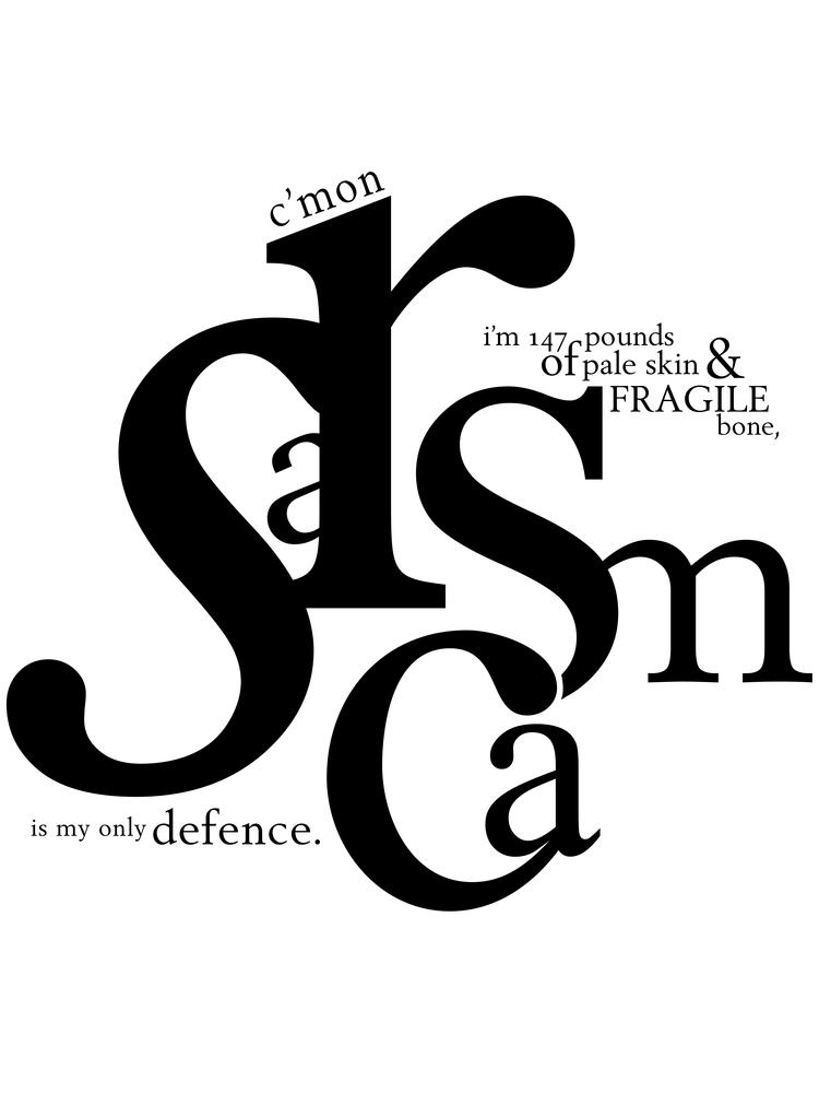 """Image of Stiles Stilinski """"Sarcasm"""" Typography Print"""