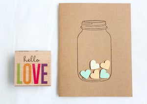 Image of Mason Jar Hand-made Stationary Cards
