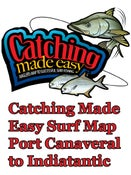 Image of Catching Made Easy Surf Map Port Canaveral to Indiatantic