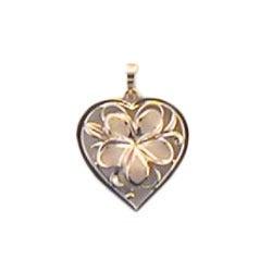 Image of Flower Heart Pendant