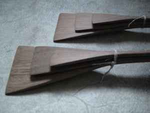 "Image of HAND CARVED SPATULA SET - 35.56 CMS (14"")"