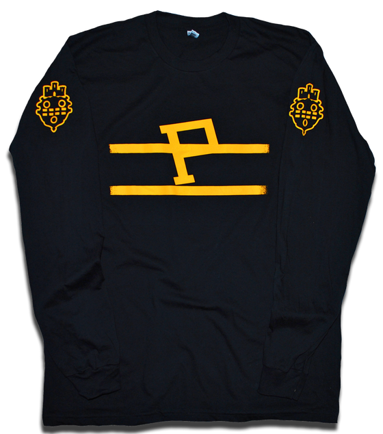 Image of Pittsburgh Pirates NHL custom 1925 hockey long sleeve tee