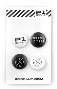 "Image of ""SpeedCorps"" Button Set, 4 (P1B-A0506)"
