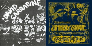 Image of Unholy Grave/ David Carradine split 6 inch