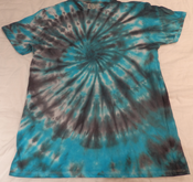 Image of blue and black swirl tee