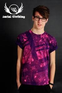 Image of Purple Striped T Shirt
