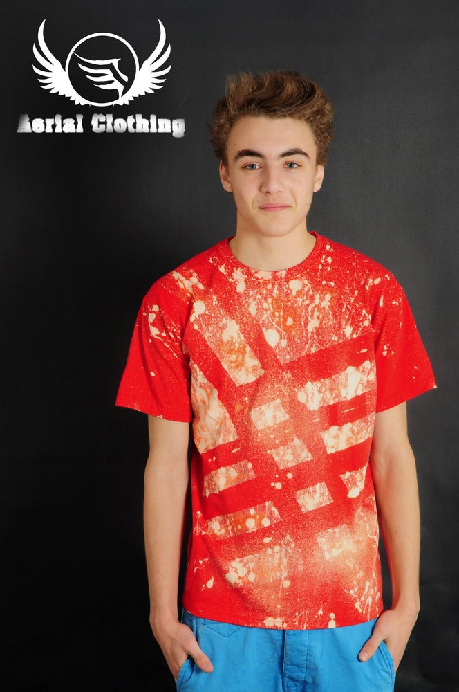 Image of Red Striped T Shirt