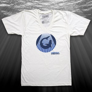 Image of Circle Logo Vee-neck, Organic (natural)