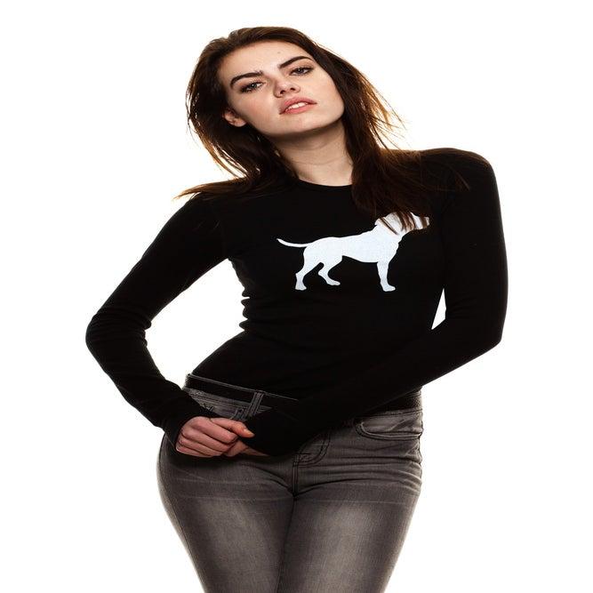 Image of girls slim fit black tiny tim thermal
