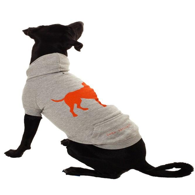 Image of tiny tim heather grey signature dog hoodie