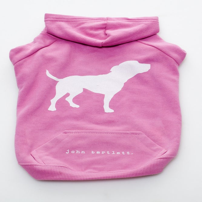 Image of blush pink tiny tim dog hoodie
