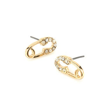 Image of Safety Pin Stud Earrings
