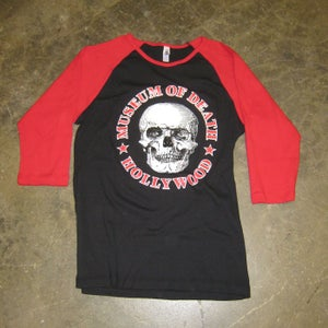 Image of Museum of Death Logo (Black and Red) - Women's Fitted Jersey Shirt