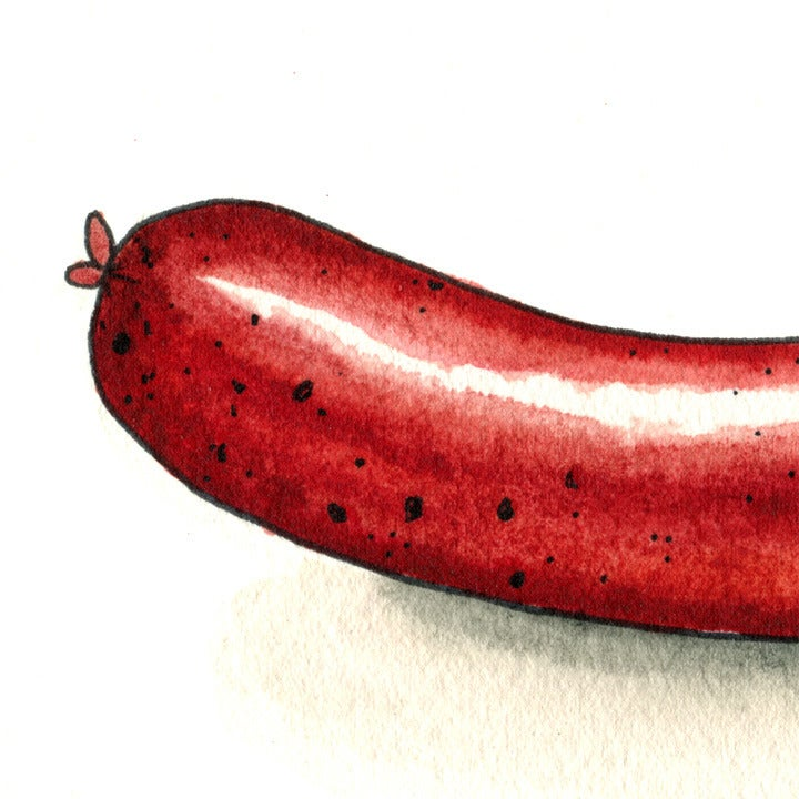 Image of Nice Sausage Print