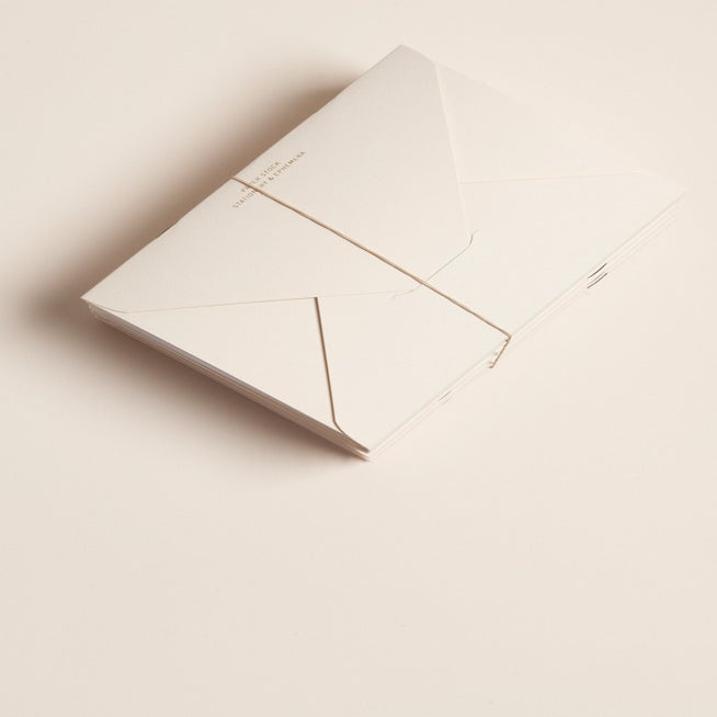 Image of PAPER STOCK Vellum Diamond Flap Notebook (inset)