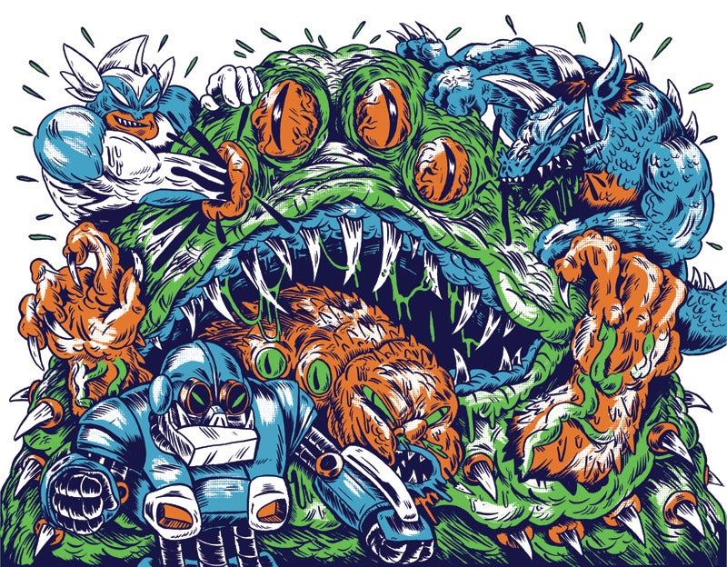 Image of King of Monsters 2 Screen Print