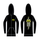 Image of Anchorless Zip Up Hoodie EXCLUSIVE Cat Clock Design