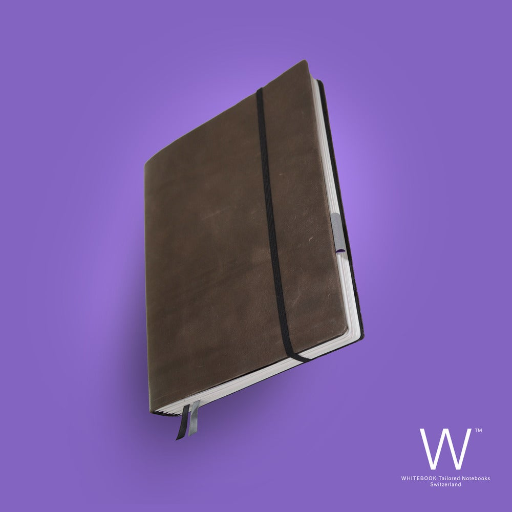 Image of WHITEBOOK SOFT S205, cut vintage leather, brown