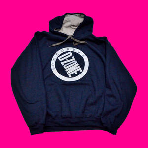Image of d-zone reflective silver logo hoodie (Navy or Black)