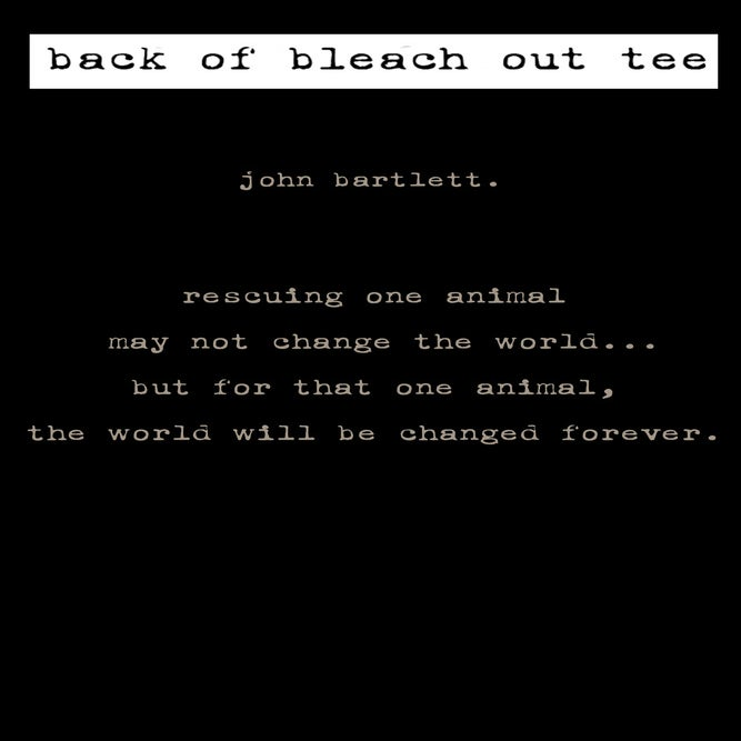 Image of guy's black tiny tim bleach out tee