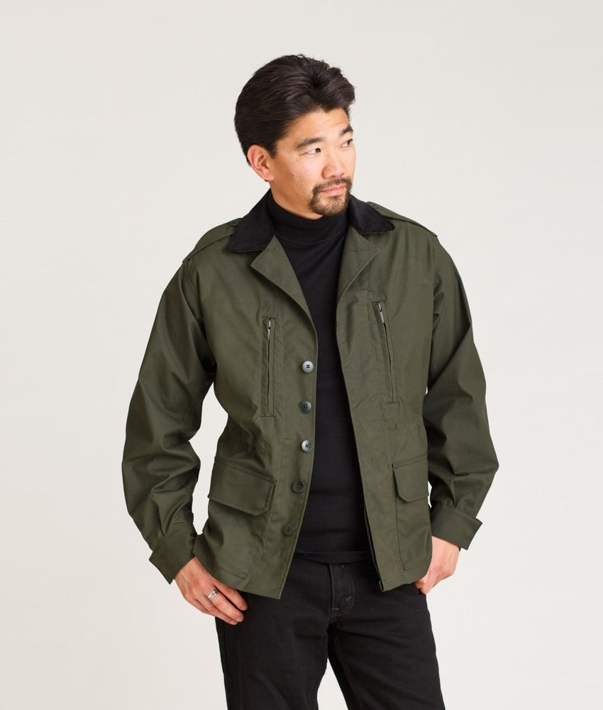 Image of F1 M1980, Field - Dry Waxed Cotton in Olive