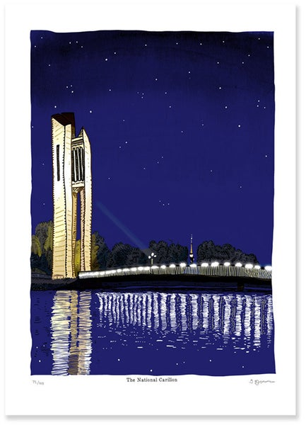 Image of National Carillon Night Limited Edition Digital Print