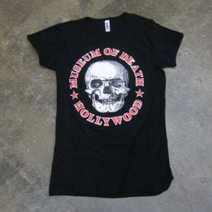 Image of Museum of Death Logo - Girly Tee (Black)