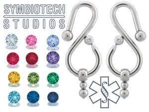 Image of Gracefall Eardrops / Stainless & Gems
