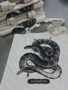 Image of MNMNTS - Snake Tote Bag - SOLD OUT!