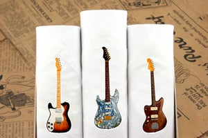 Image of Set of III Men's Hankies: Guitars