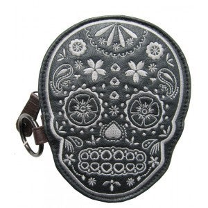 Image of Loungefly Tweed Skull Purse