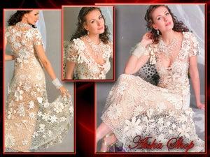 Image of Crochet Patterns eBook Irish Lace Dresses Wedding Diagram FREE SHIPPING - JMEEE