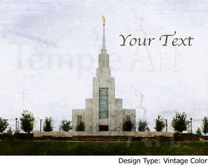 Image of Twin Falls Idaho LDS Mormon Temple Art Sale 001 - Personalized LDS Temple Art