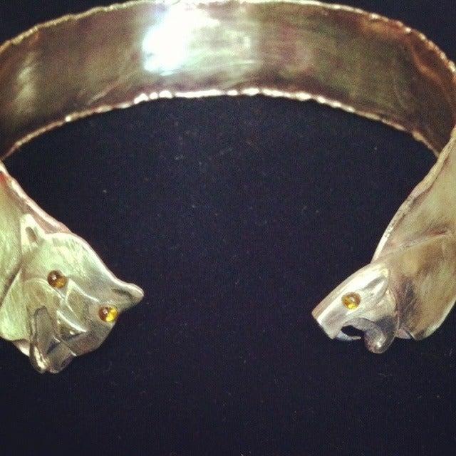Mayan inspired jaguar priestess collar