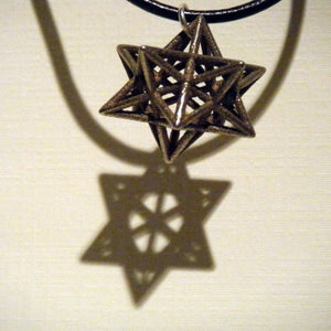 Image of Small Stellated Dodecahedron Necklace