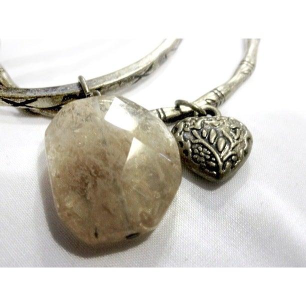 Image of Amber Charm Bangles