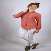 Rose Sheer Cut-Out Hart Blouse