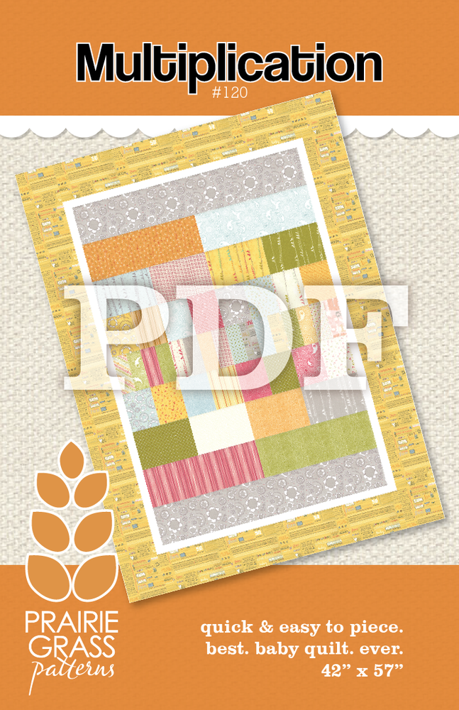 Image of Multiplication: PDF Quilting Pattern #120
