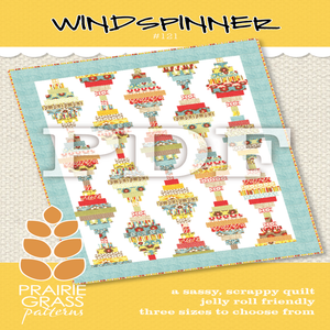 Image of Windspinner: PDF Quilting Pattern #121