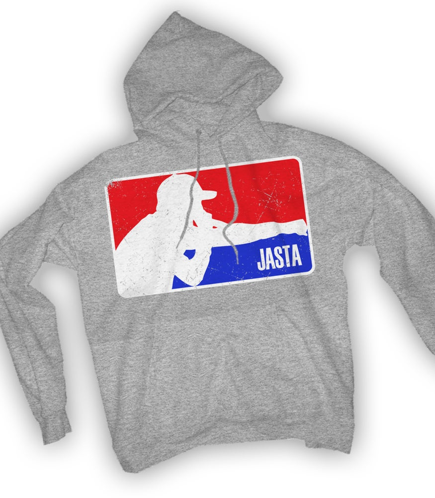 Image of JASTA MLB Hooded Sweatshirt - Heather Gray